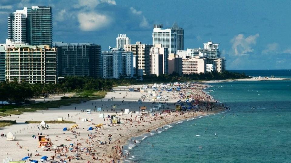 La bellissima ed immensa spiaggia di Miami