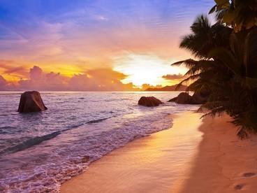 Tramonto alle Seychelles