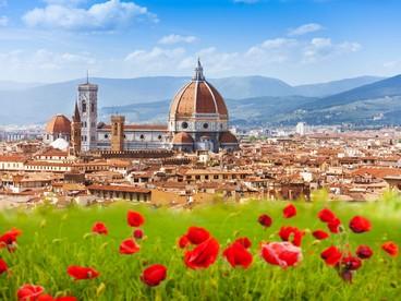 Firenze, veduta con Duomo e campanile