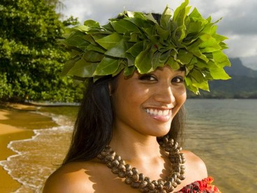 Una danzatrice di hula, Hawaii
