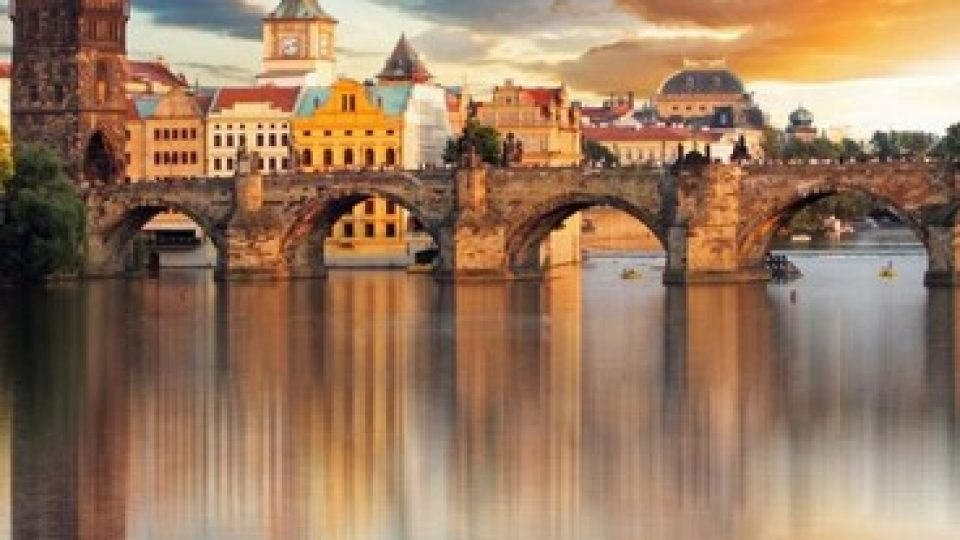 Tramonto su Praga