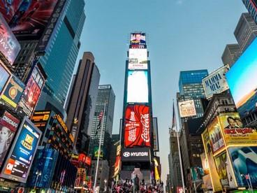 Cartelloni pubblicitari dei musical a Times Square