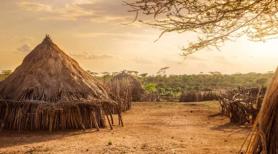 Un villaggio della Omo Valley, in Etiopia