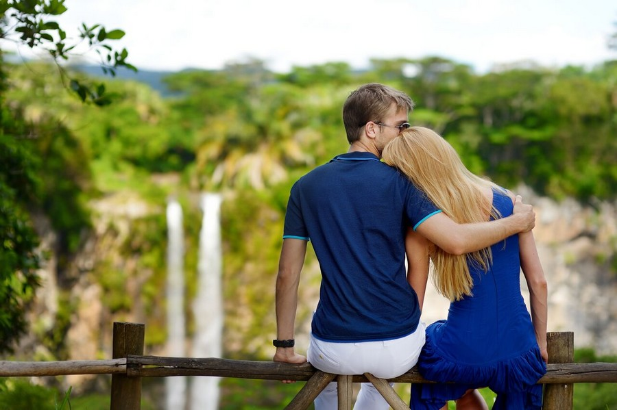 Romantico viaggio a Mauritius, cascate di Chamarel