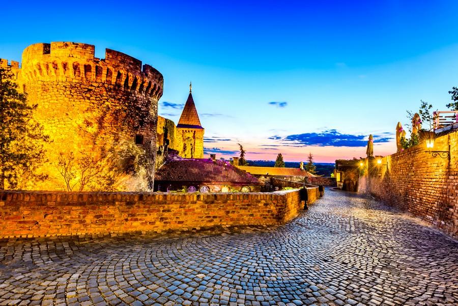 La Fortezza di Belgrado al tramonto
