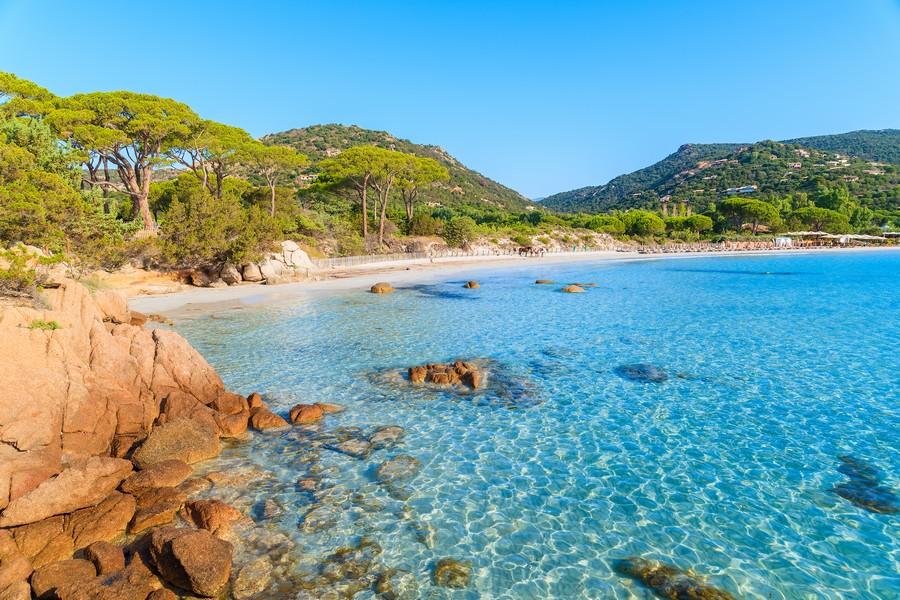 Spiaggia Palombaggia, in Corsica
