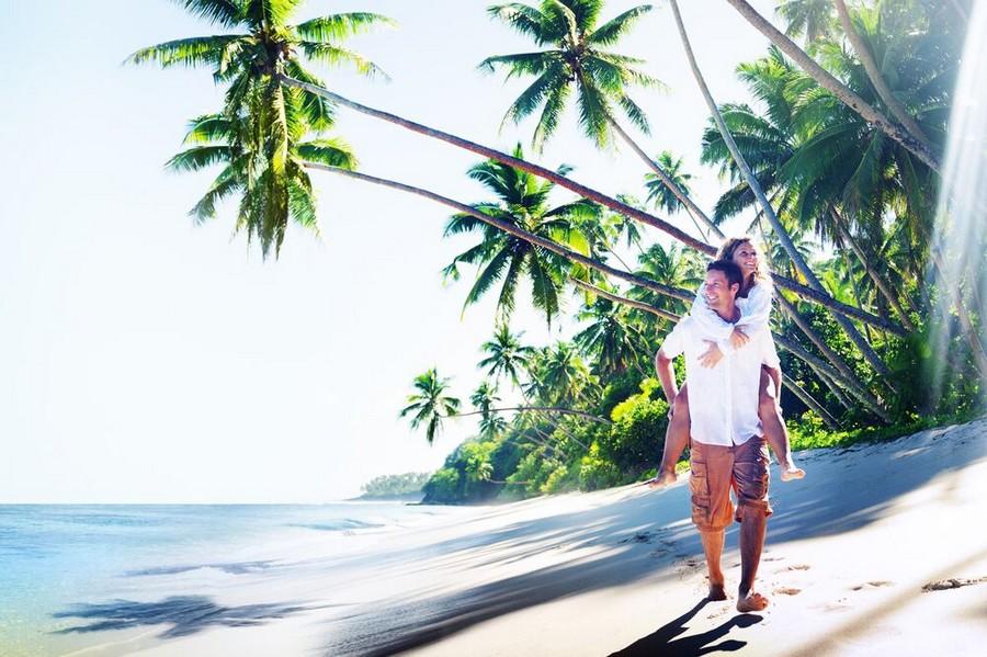 Viaggio di nozze su un'isola tropicale