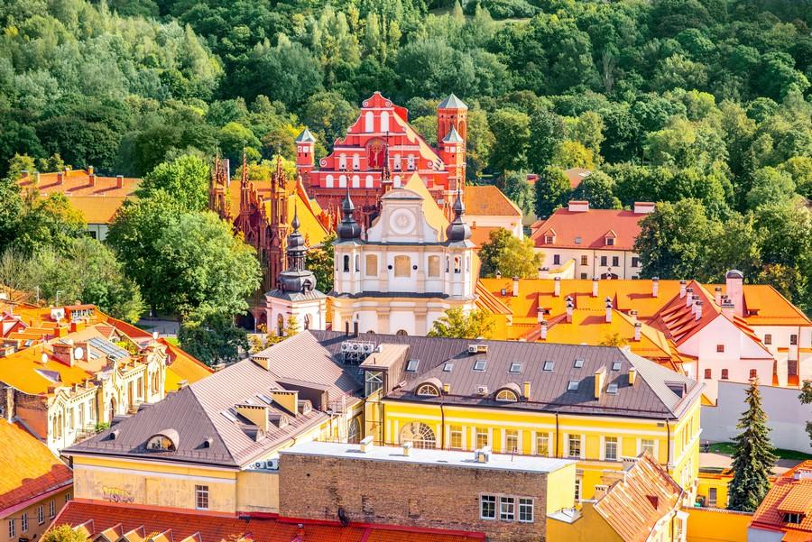 Il centro storico di Vilnius