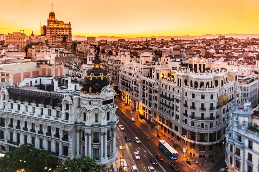 Tramonto su Madrid