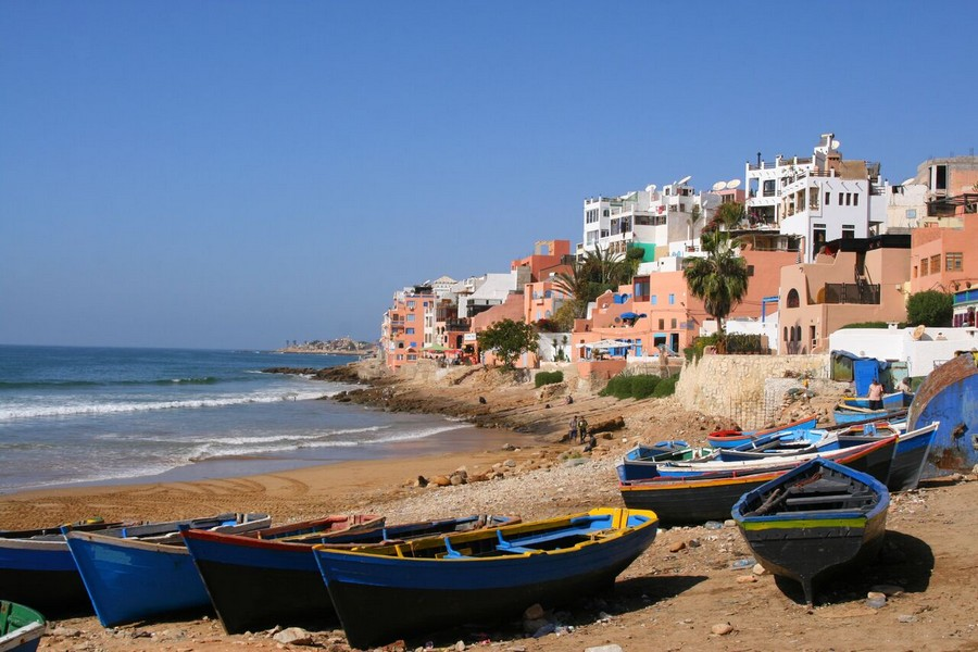 Taghazout in Marocco
