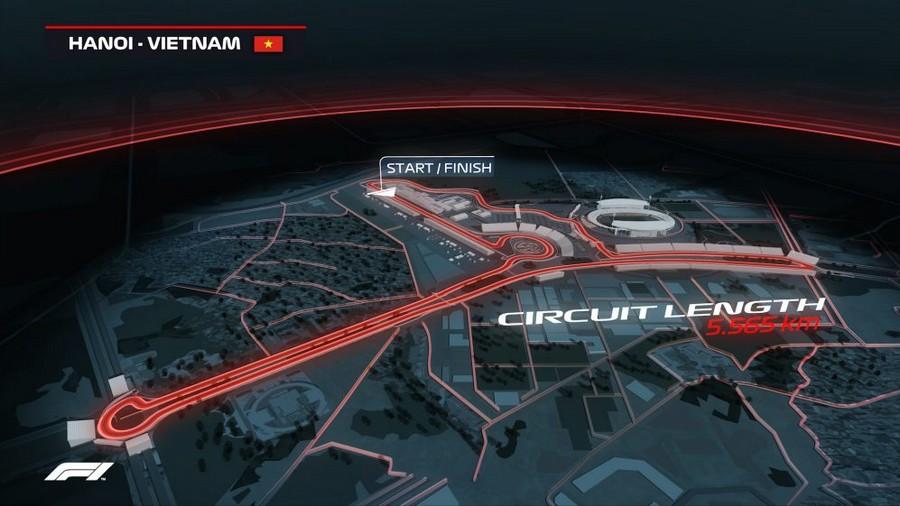 Ricostruzione del circuito di Hanoi - © formula1.com