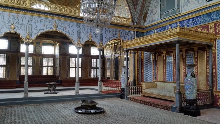 Una sala del Palazzo Topkapi