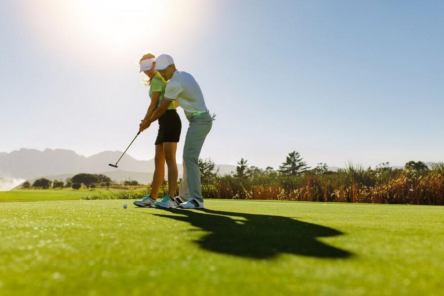 Lezioni durante un viaggio golf