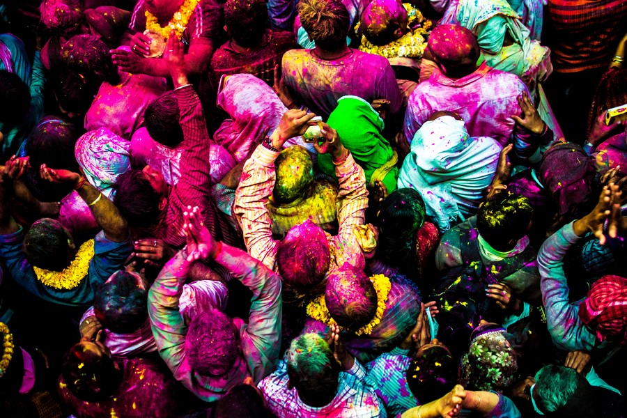 Holi Festival a Vrindavan, in India