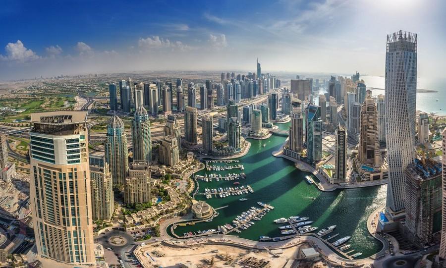 Dubai dall'alto