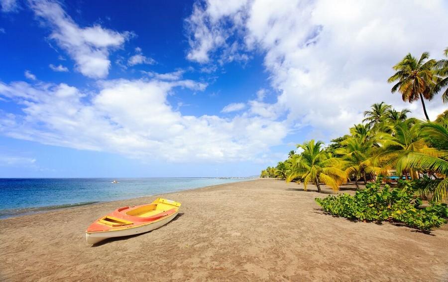 Una spiaggia dell'isola di Martinica