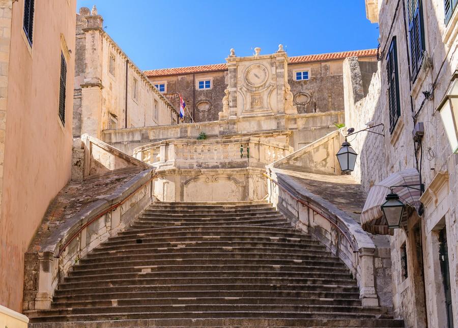 La scalinata del complesso dei Gesuiti, Dubrovnik