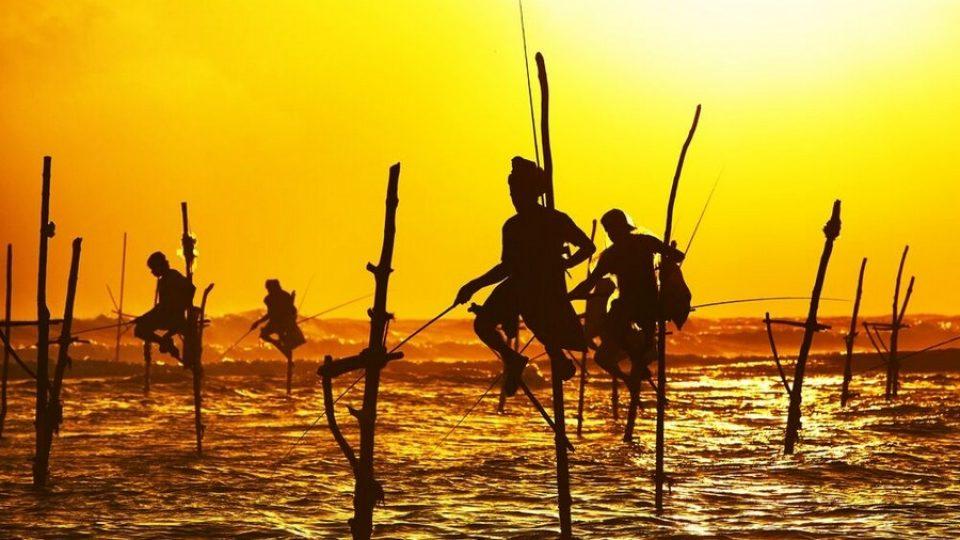 I pescatori sui trampoli in Sri Lanka