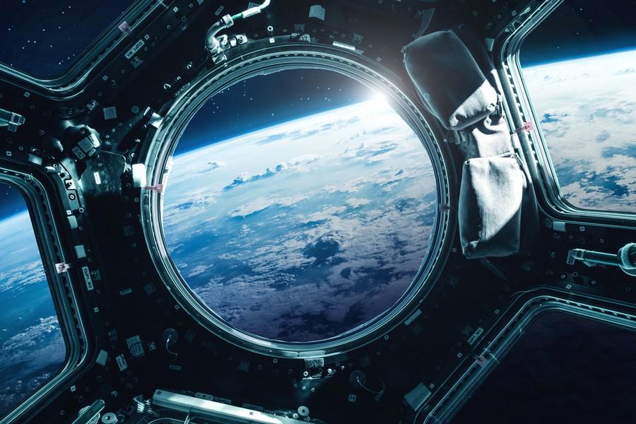 La terra vista dall'oblò della ISS
