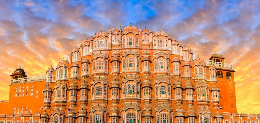 Palazzo dei venti a Jaipur, India