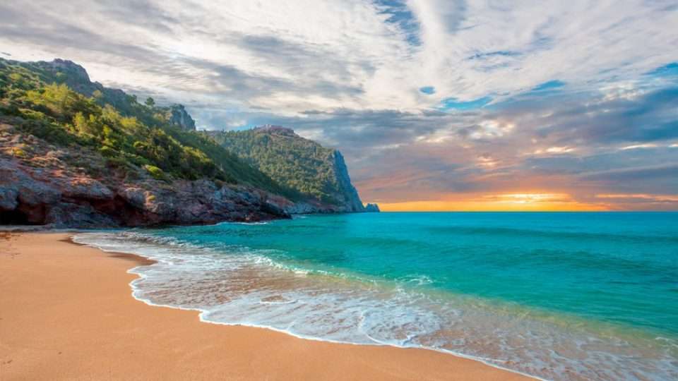 Spiaggia di Cleopatra al tramonto