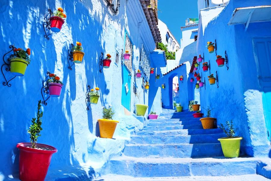 Chefchaouen, la città blu in Marocco