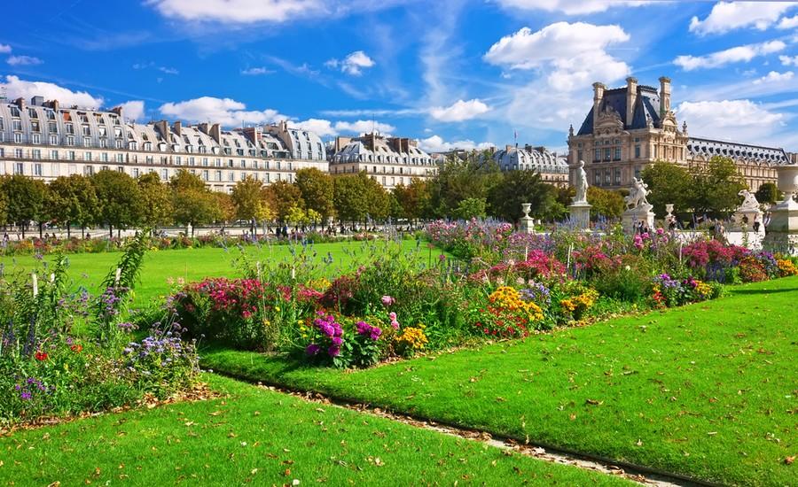 Giardini del Louvre a Parigi