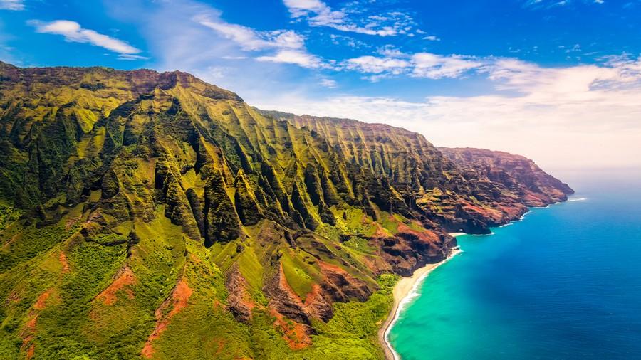 Costa di Na Pali a Kauai, Hawaii