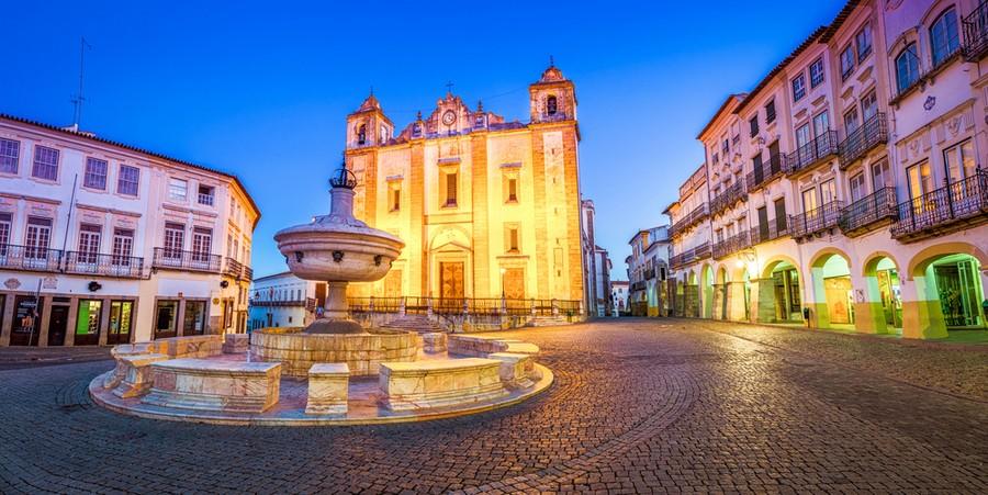 Praca do Giraldo a Evora, Portogallo