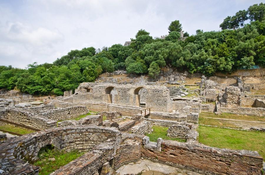Butrinto, Albania: parte delle rovine del sito archeologico