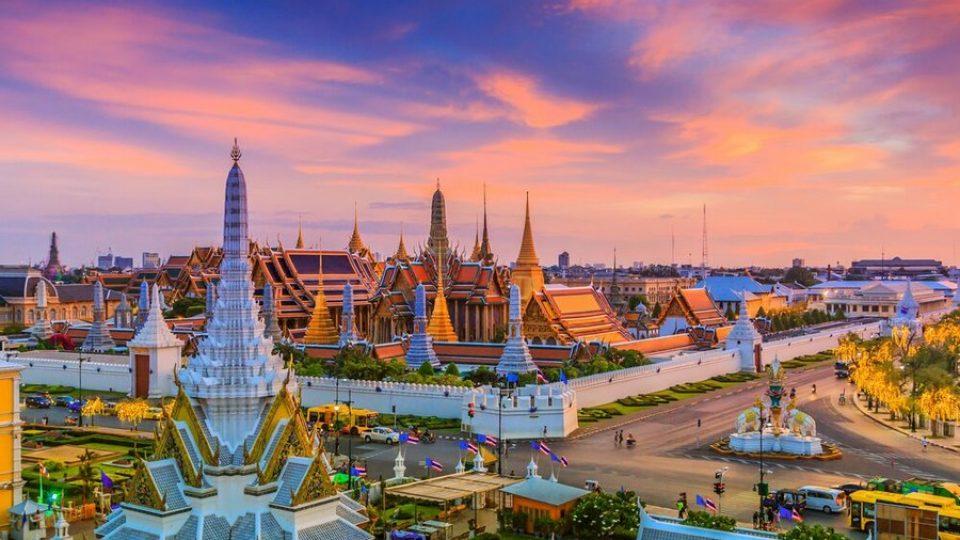 Bangkok, panorama al tramonto