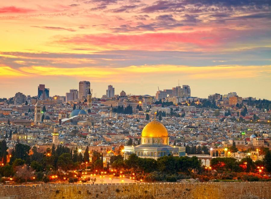 Tramonto su Gerusalemme