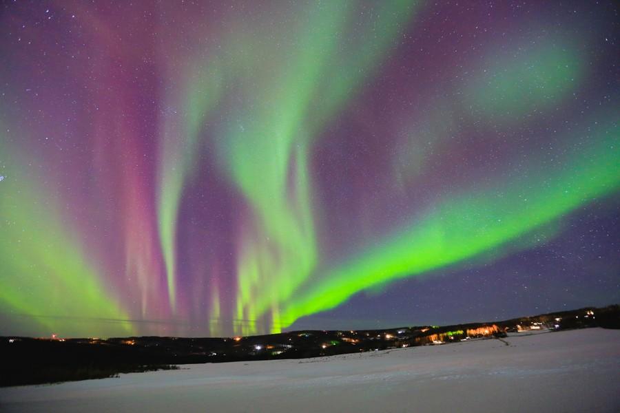 Aurora boreale a Fairbanks, Alaska