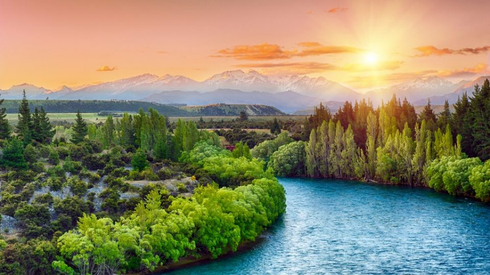 Fiume Clutha e natura in Nuova Zelanda