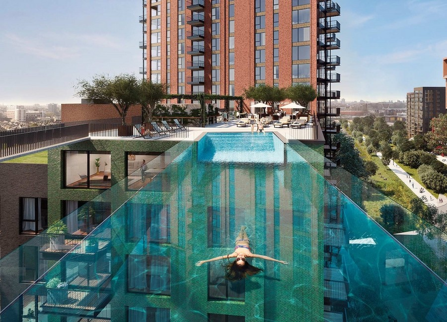Sky Pool a Londra, la piscina sospesa - © www.embassygardens.com