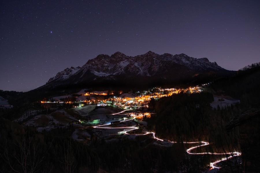 Sciare di notte in Valle d'Aosta