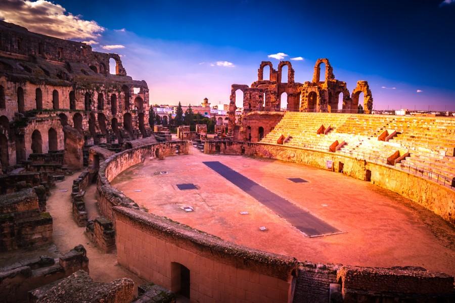Anfiteatro di El-Jem, in Tunisia