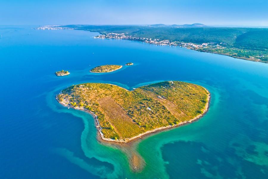 Galesnjak, l'isola a forma di cuore in Croazia