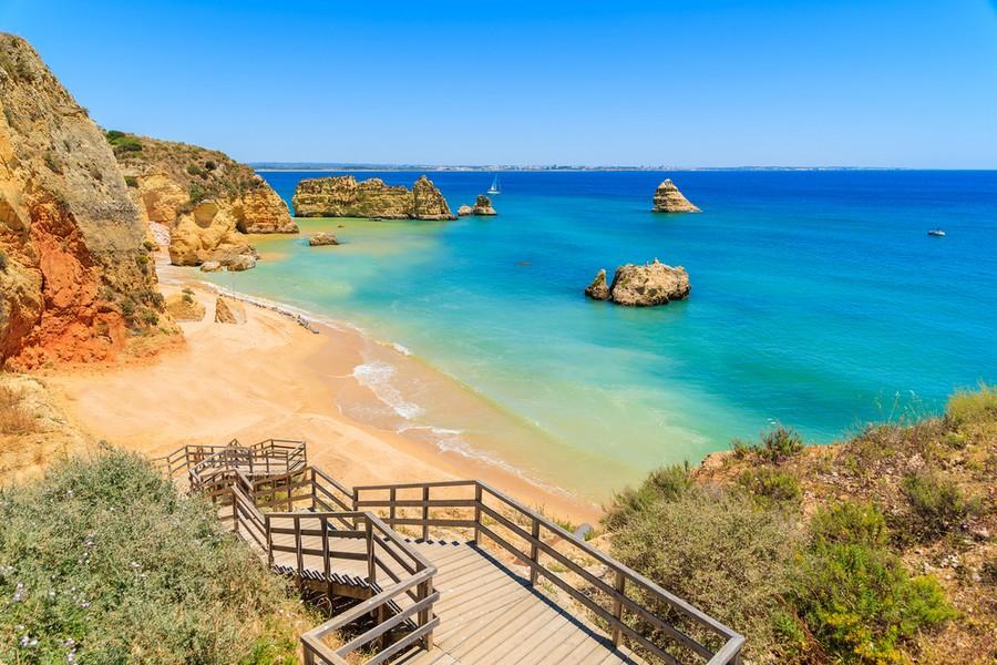 Praia Dona Ana in Algarve (Portogallo)