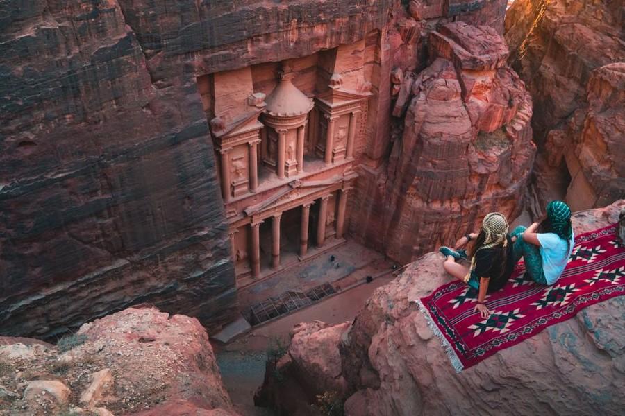 Il sito di Petra dall'alto