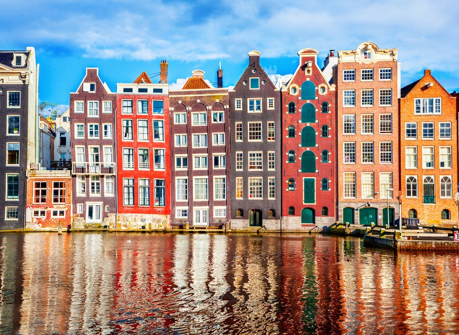 Tipiche case di Amsterdam: strette e alte