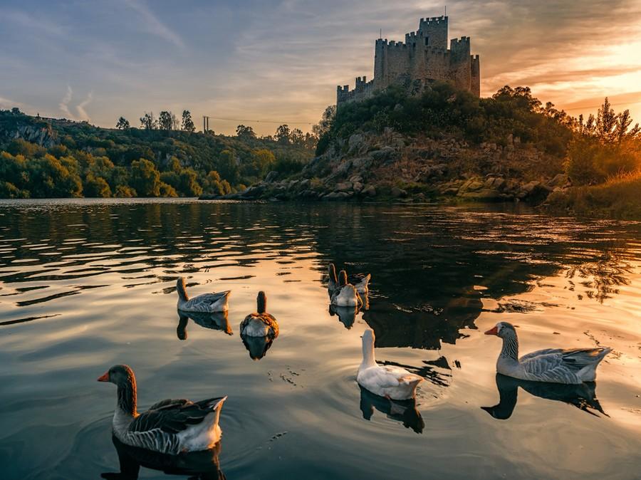 Castello di Almourol, fortezza dei Templari in Portogallo
