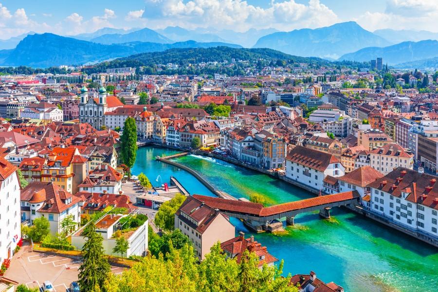Panorama di Lucerna, Svizzera
