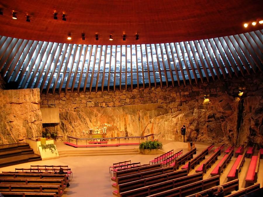 Temppeliaukion kirkko a Helsinki