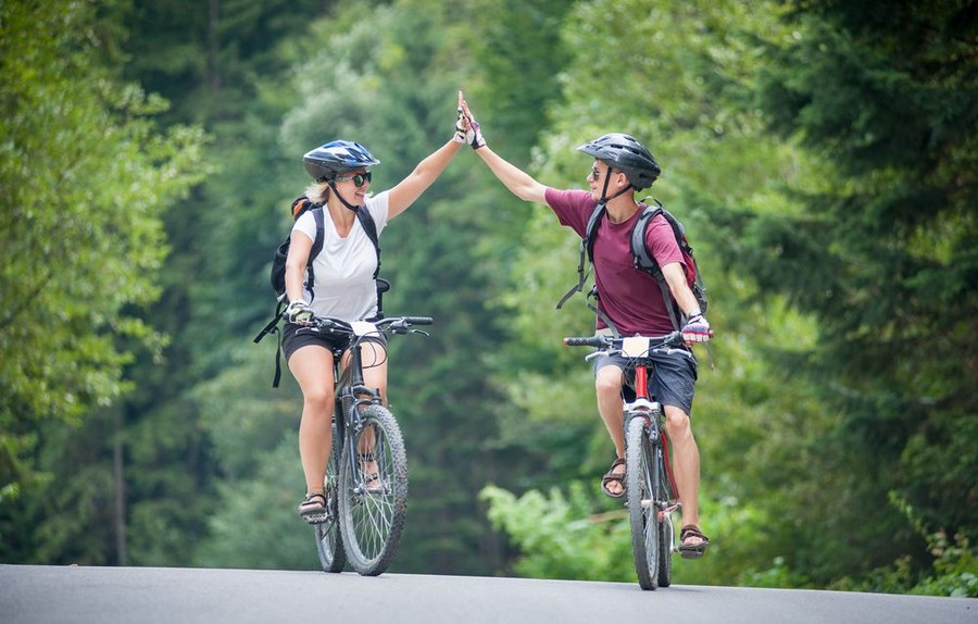 Viaggio in bici in coppia